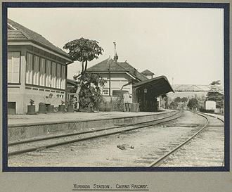Kuranda Scenic Railway - Kuranda station in 1924
