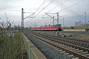 S8 (Rhine-Main S-Bahn) - Trainset at Hanau-Steinheim station
