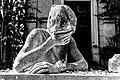 Statua malinconica del Cimitero Monumentale (Bianco&Nero).jpg