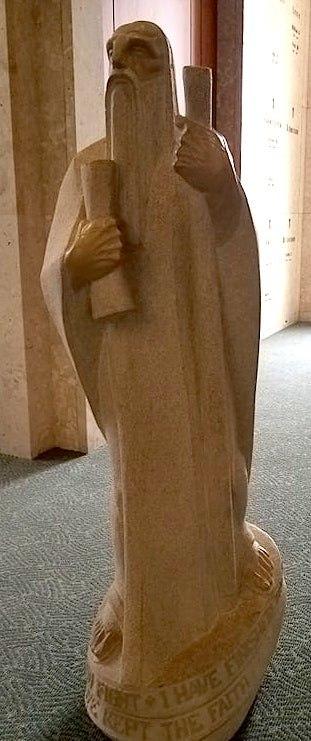Statue of St. Paul, Community Mausoleum of All Saints Cemetery, Des Plaines, Illinois