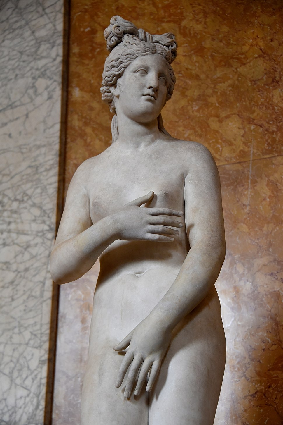 Statue of nude Venus of the Capitoline type, Roman, 2nd century AD, from Campo Iemini, housed in the British Museum