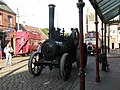 Steam traction engine PY 298, Town, Beamish Museum, 6 October 2012 (2).jpg