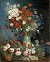 Still life with meadow flowers and roses Van Gogh 1886.jpg