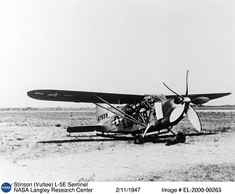 "Stinson L-5 Sentinel - L-5E with ""Quiet Flight"" modifications at Langley"