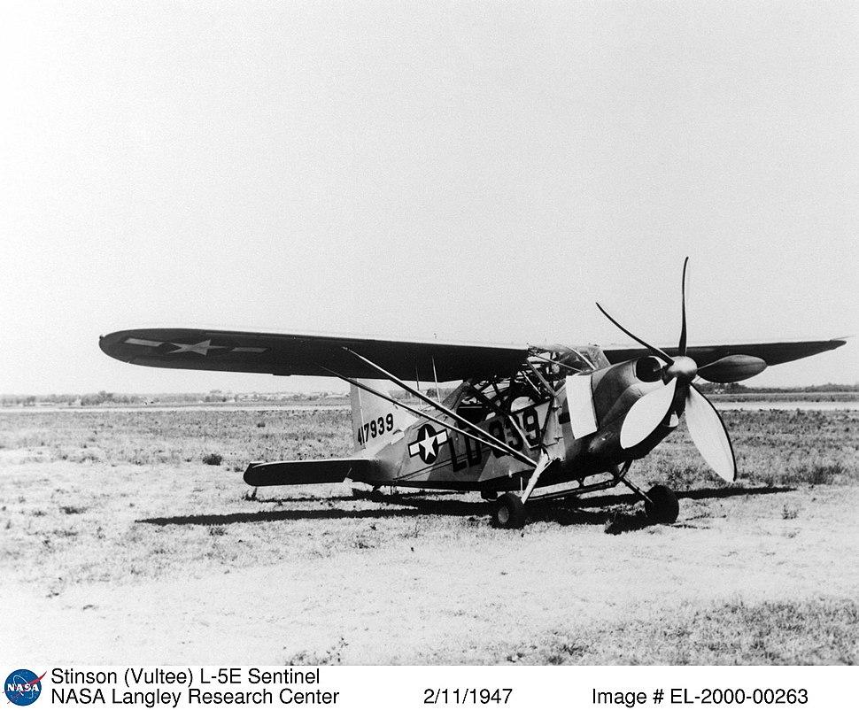 Stinson L-5E Sentinel with NACA