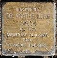 Stolperstein Caspar-Theyß-Str 26 (Schmar) Agathe Luise Lasch.jpg