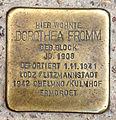 Stolperstein Friedrichstr 30 (Kreuz) Dorothea Fromm.jpg