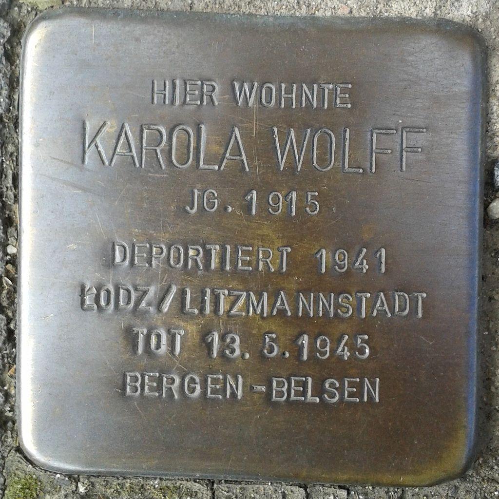 Stolperstein Hennef Bonner Straße 69 Karola Wolff