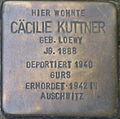 Stolperstein Karlsruhe Kuttner Cäcilie geb Loewy.jpeg