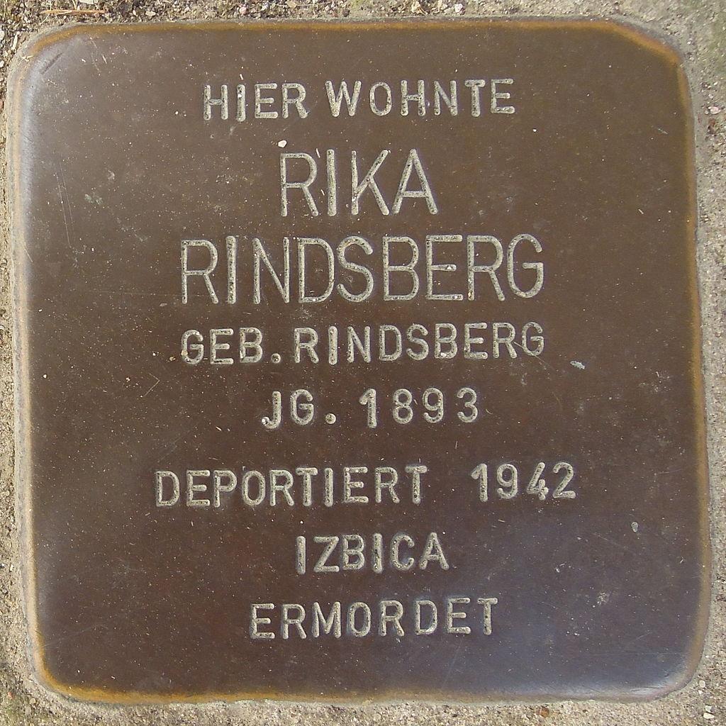 Stolperstein Mainstockheim Mühlengasse 9 Rika Rindsberg.jpg