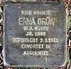 Stolperstein Markgrafenstr 22 (Frohn) Erna Grün.jpg