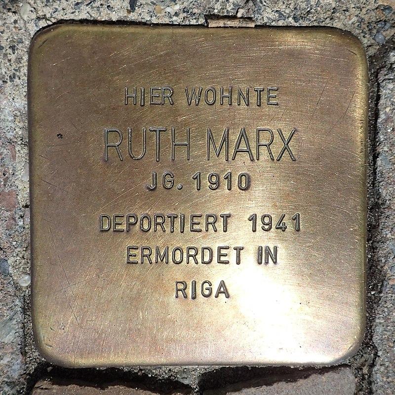 Stolperstein Metelen Schilden 15 Ruth Marx