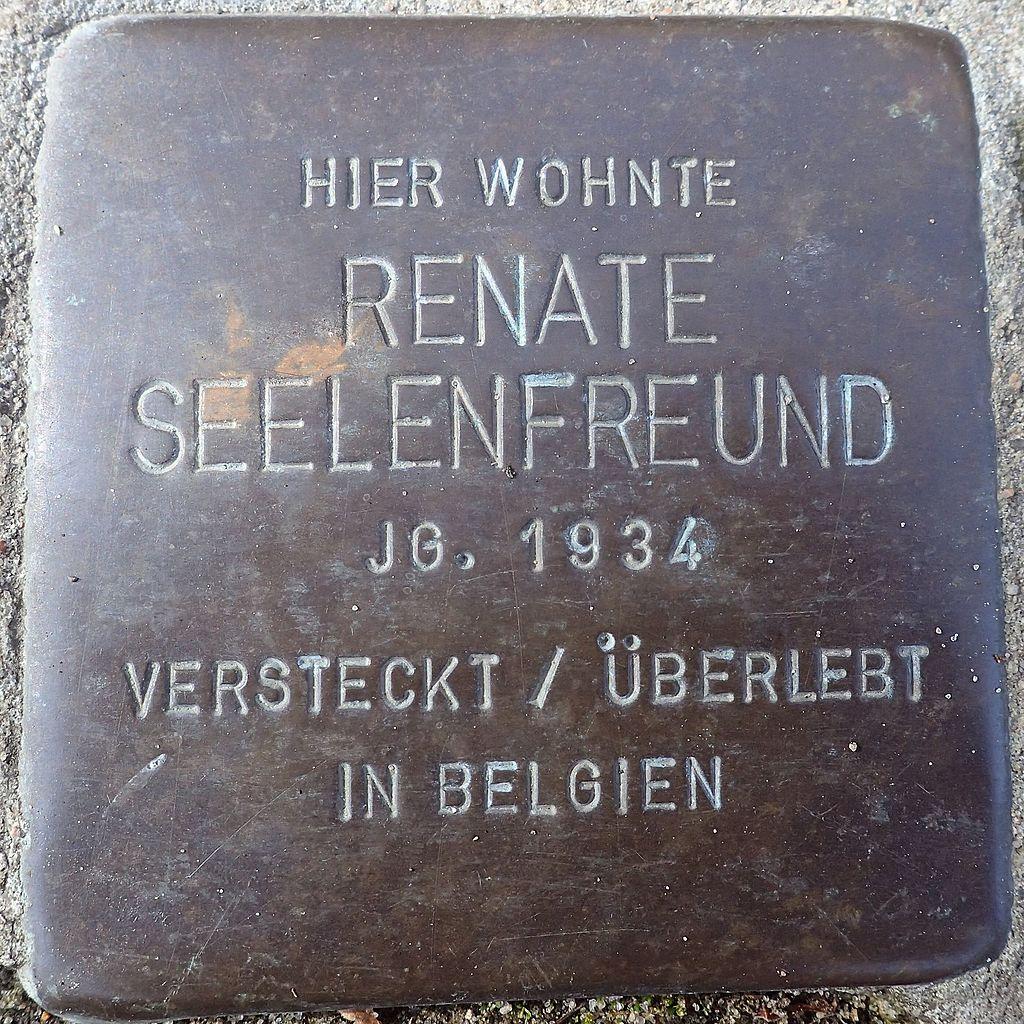Stolperstein Rendsburg Provianthausstraße 5 Renate Seelenfreund.jpg