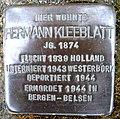 Stolpersteine Dortmund Lindenhorster Straße 237 Hermann Kleeblatt.jpg
