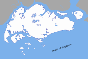Singapore Strait - Map of the Singapore Strait.