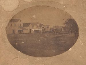 Claiborne, Alabama - A street in Claiborne during the 1850s