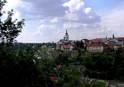 Stribro CZ town centre from SE.jpg