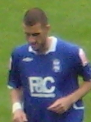 Stuart Parnaby - Parnaby playing for Birmingham City in 2008.