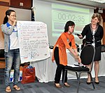 Students join the 'USAID and Higher Education in Vietnam' talk (8202366426).jpg