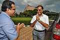 Subhabrata Chaudhuri Greets Arun Goel - Science City - Kolkata 2018-09-23 4273.JPG