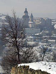 Vedere panoramică spre Suceava