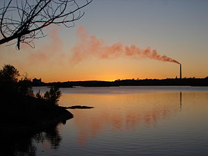 Ramsey Lake - Ramsey Lake sunset with the Inco Superstack dominating the skyline