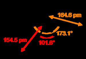 Sulfur tetrafluoride - Image: Sulfur tetrafluoride 2D dimensions