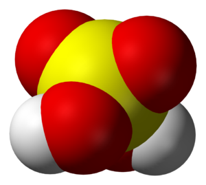 Sulfuric acid - Space-filling model