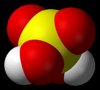 Sulfuric acid - Space-filling model