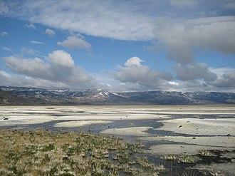 Northern Basin and Range ecoregion - Salt deposits at Summer Lake