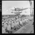 Sunday services, conducted by Lt. James W. Kelly (CHC) on board the USS Mobile (CL-63) enroute for raid on Marcus... - NARA - 520886.tif