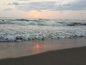 Ureki - Sunset on the coast of Ureki