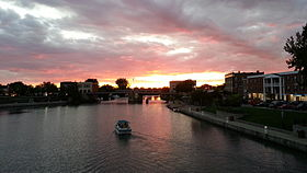 Sunset over the Erie Canal in North Tonawanda, NY..jpg