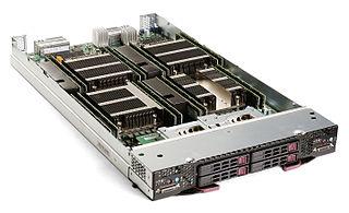 Blade server type of server computer