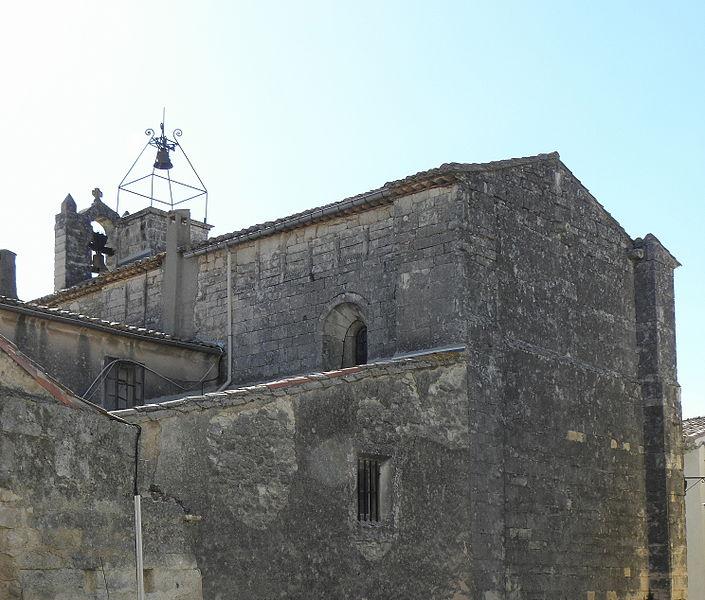 Église Saint-Martin de Sussargues (34). Chevet et flanc sud.