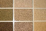 Swatches of berber carpet