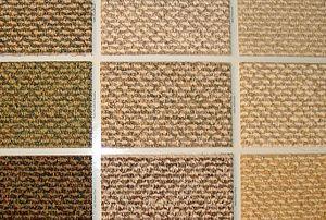 Swatches of Berber carpet