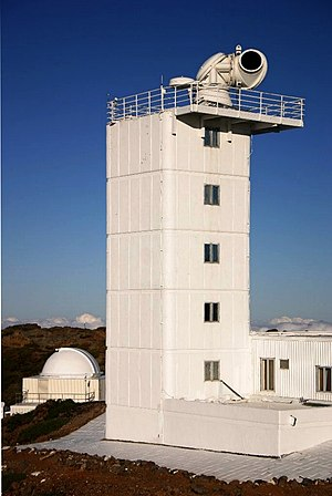 Solar telescope - The Swedish 1-m Solar Telescope at Roque de los Muchachos Observatory, La Palma in the Canary Islands.