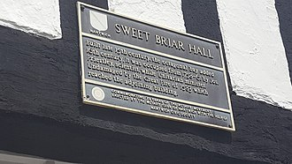 Joseph Priestley - Sweetbriar Hall plaque