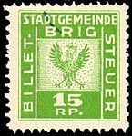 Switzerland Brig revenue 15Rp - 3C.jpg
