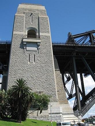 Thomas S. Tait - A pylon on Sydney Harbour Bridge