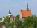 Szydlowiec church town hall edited.jpg