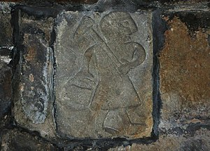 St Mary's Church, Wirksworth - Th' owd Man, the oldest known representation of a miner