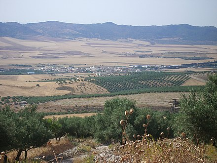 View of the central Tunisian plateau at Teboursouk Teboursouk.jpg