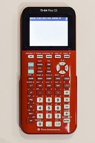 TI-84 Plus series - Image: TI 84 Plus CE (red)