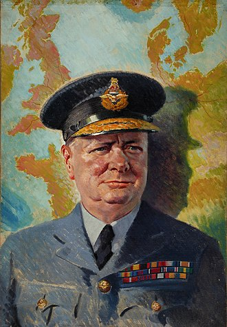 Honours of Winston Churchill - Painting of Churchill in his air commodore's uniform