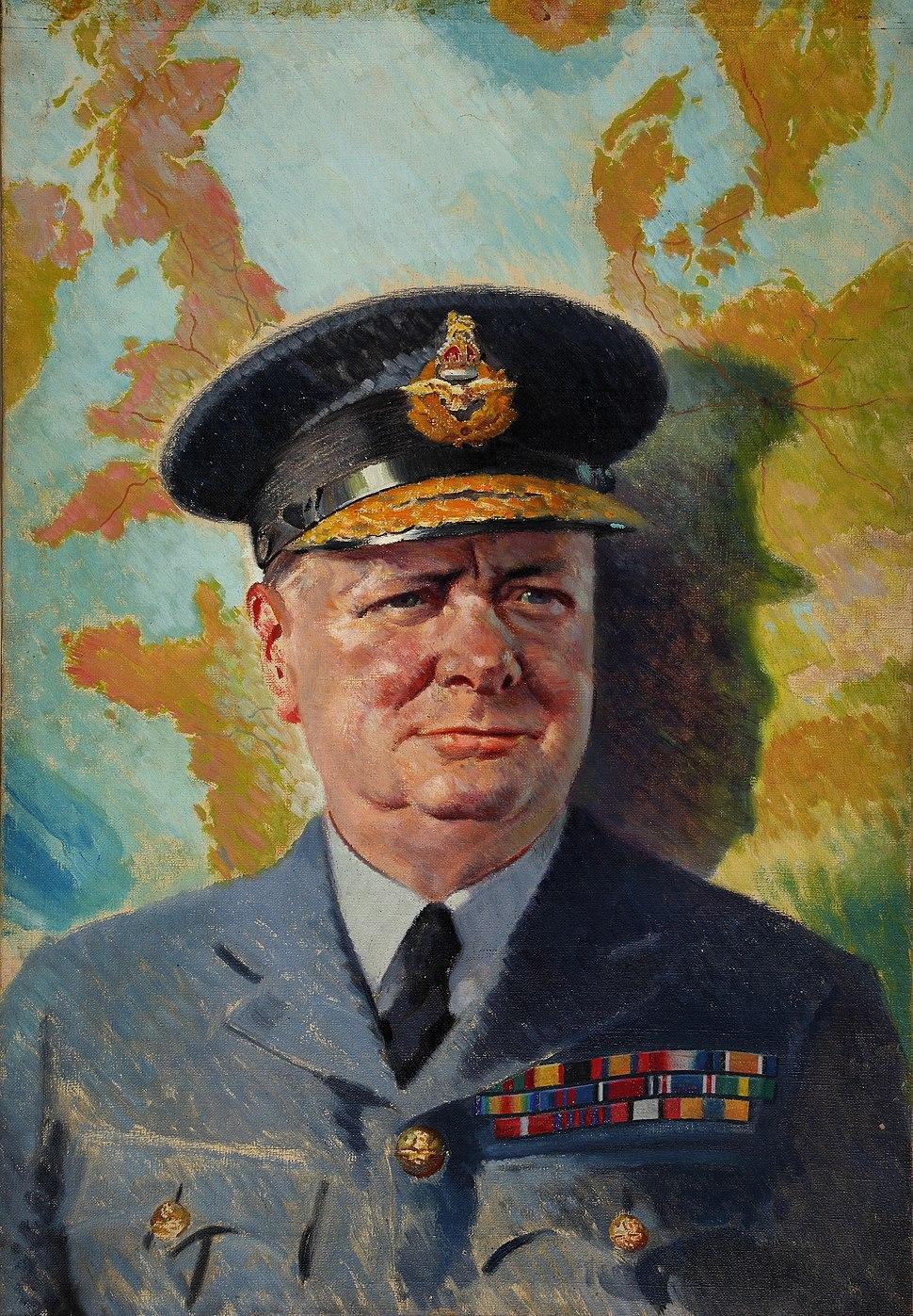 TNA INF3-3 Winston Churchill in RAF uniform 1939-1946