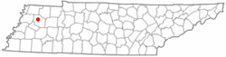 Location of Dyer, Tennessee