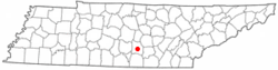 Location of Manchester, Tennessee