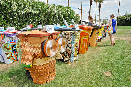 Coachella features Global Inheritance's TRASHed :: Art of Recycling campaign, in which artists from across the US design recycling bins. TRASHed Coachella 2013 GI.jpg